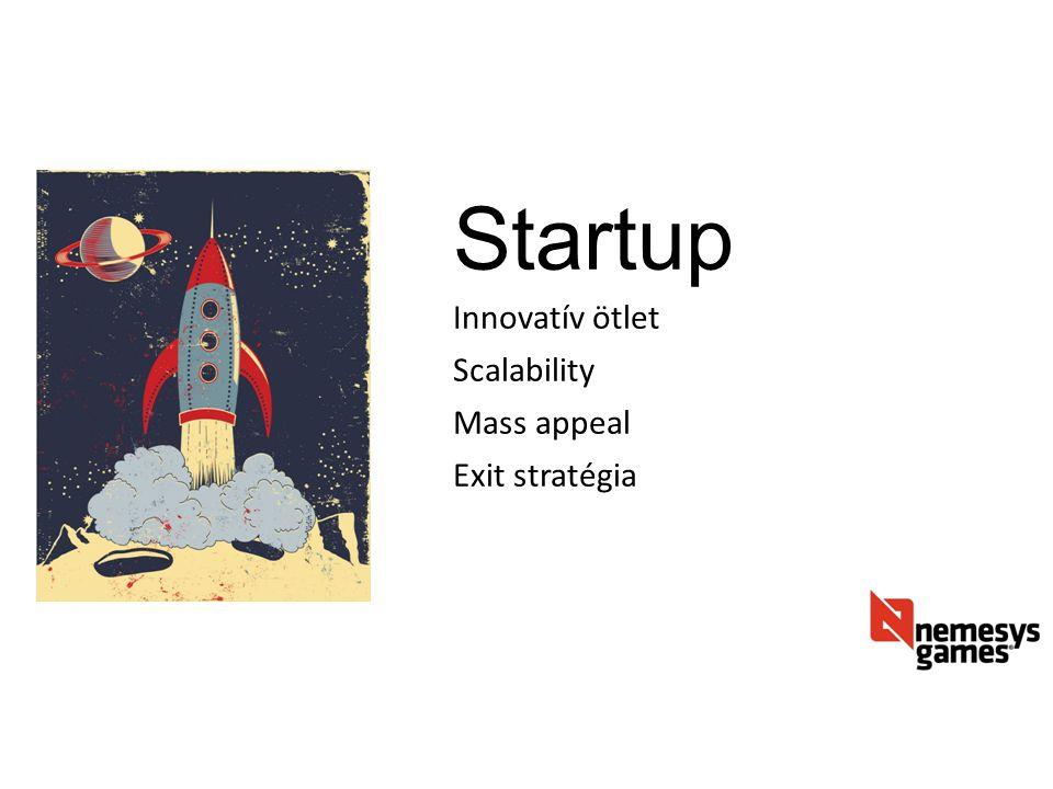 Startup Innovatív ötlet Scalability Mass appeal Exit stratégia