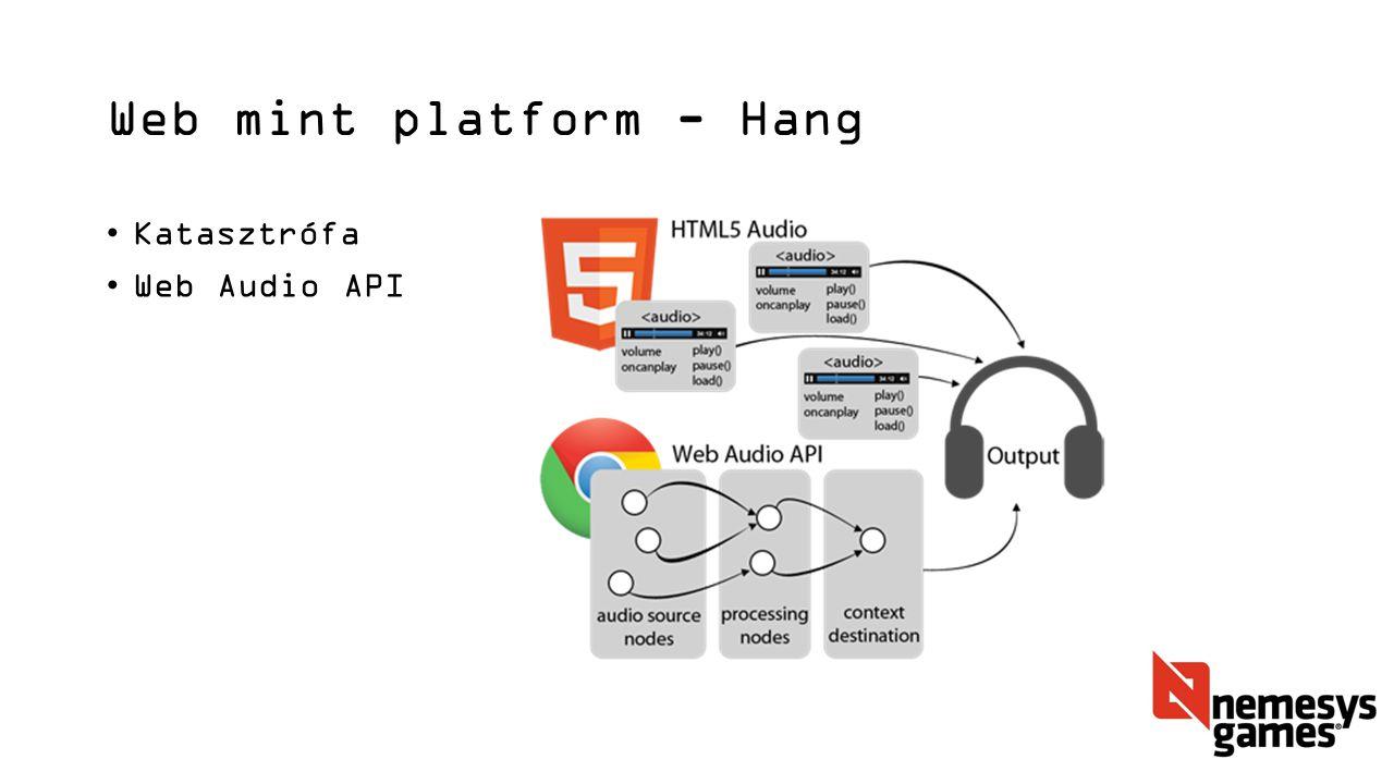 Web mint platform - Hang Katasztrófa Web Audio API