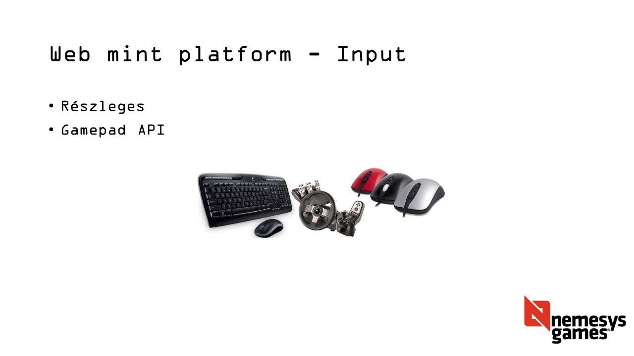 Web mint platform - Input Részleges Gamepad API