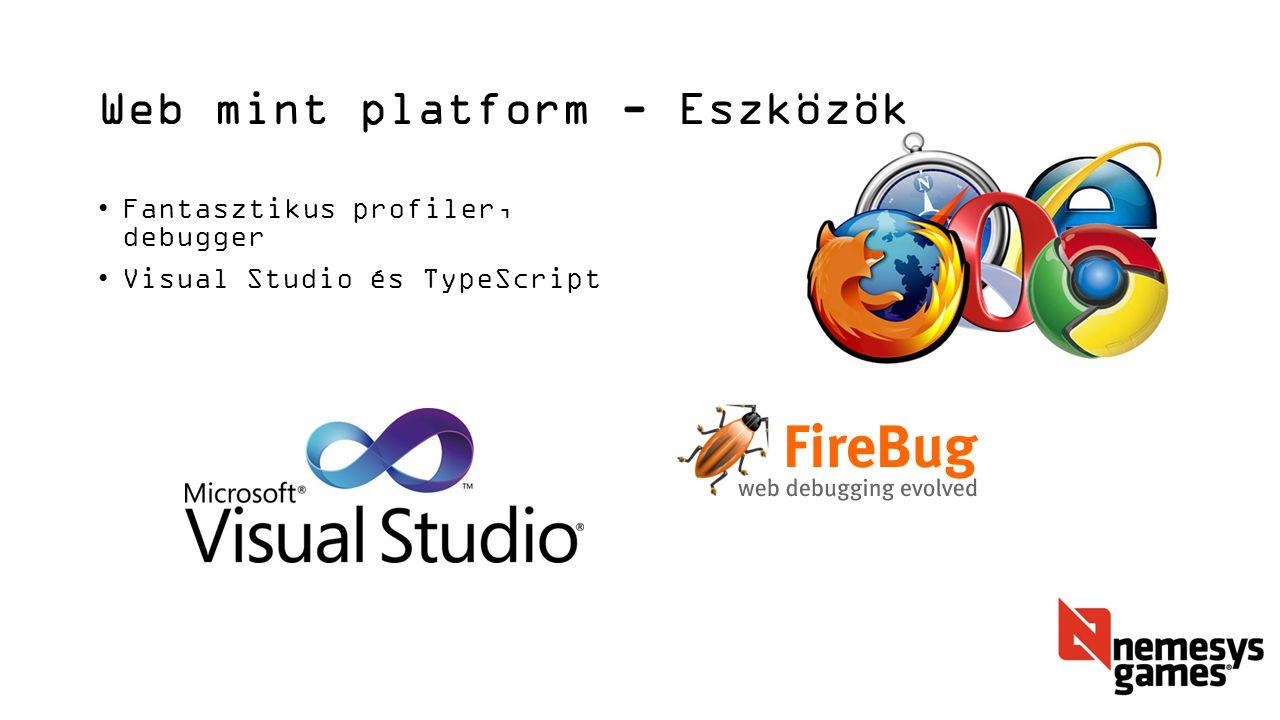 Web mint platform - Eszközök Fantasztikus profiler, debugger Visual Studio és TypeScript