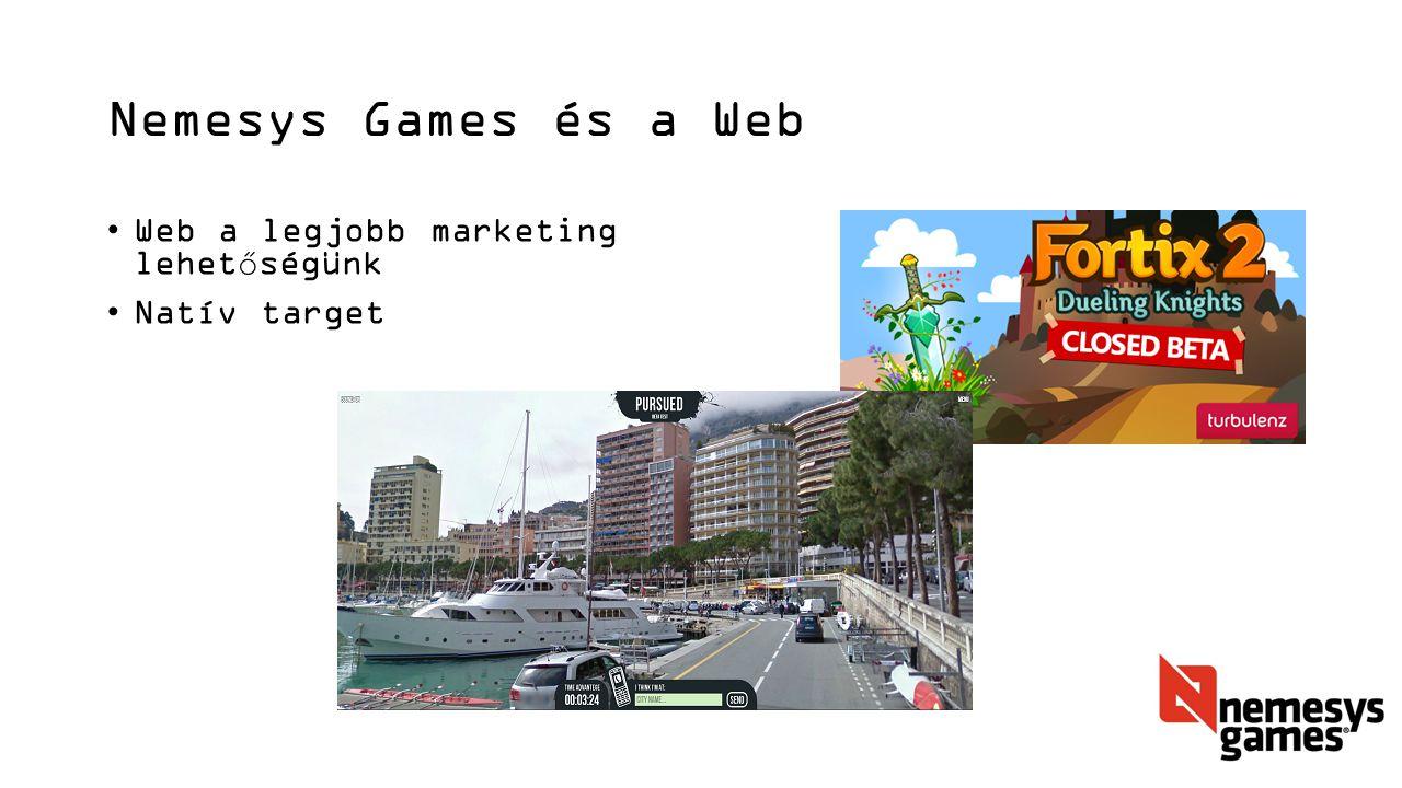 Nemesys Games és a Web Web a legjobb marketing lehetőségünk Natív target