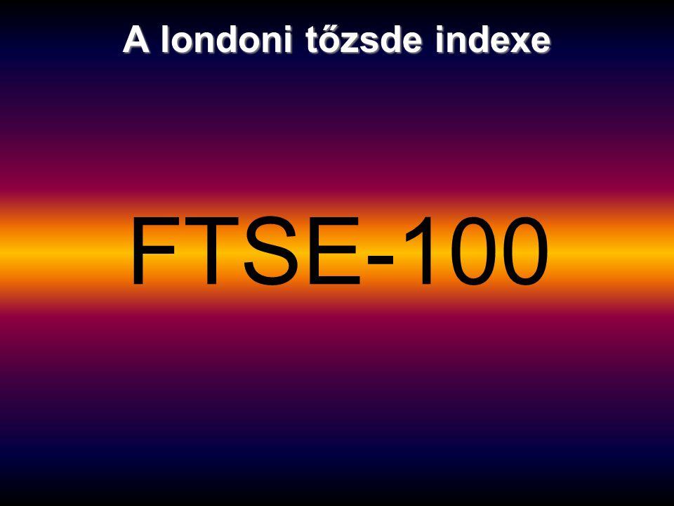 A londoni tőzsde indexe FTSE-100