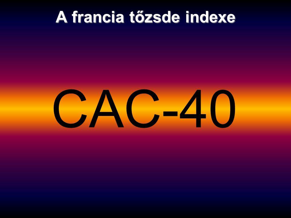 A francia tőzsde indexe CAC-40