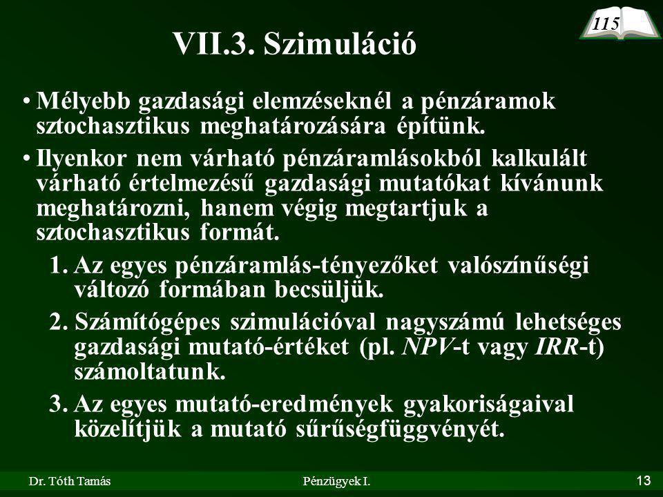 Dr.Tóth TamásPénzügyek I.13 VII.3.