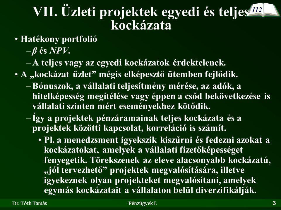 Dr.Tóth TamásPénzügyek I.3 VII.