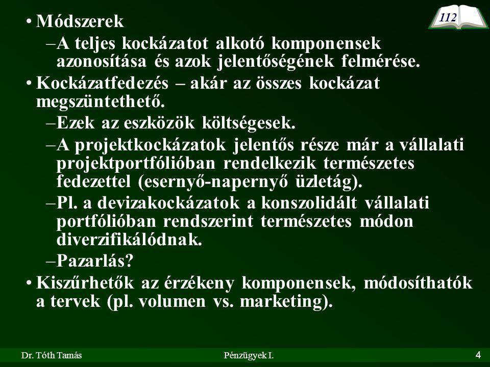 Dr.Tóth TamásPénzügyek I.5 VII.1.