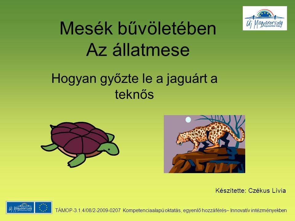 Mesék bűvöletében Az állatmese Hogyan győzte le a jaguárt a teknős Készítette: Czékus Lívia TÁMOP-3.1.4/08/2-2009-0207 Kompetenciaalapú oktatás, egyen