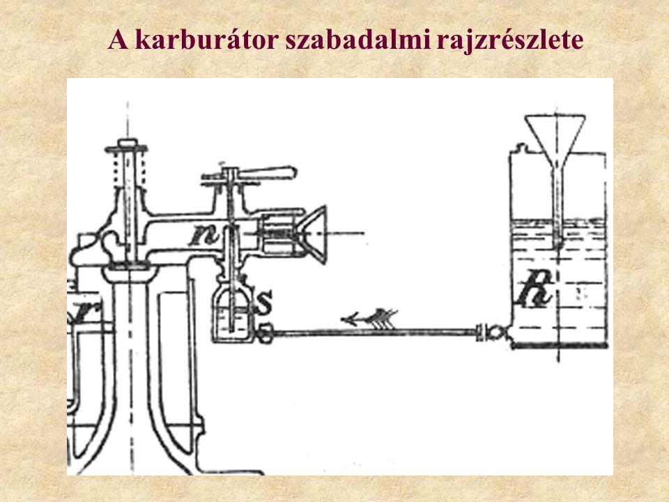 A karburátor szabadalmi rajzrészlete
