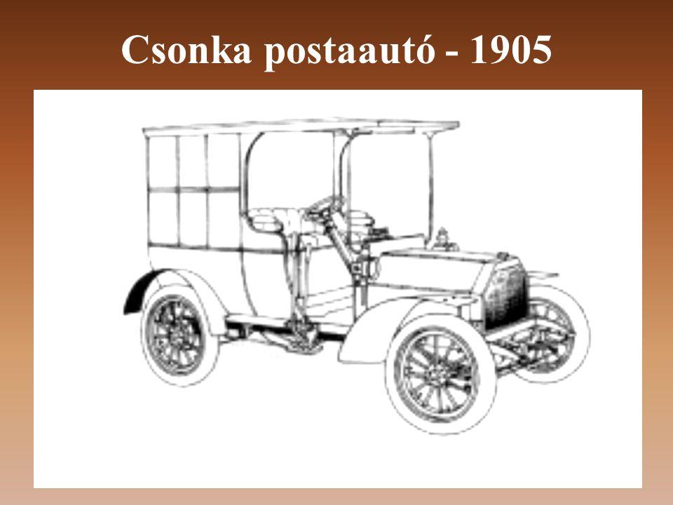 Csonka postaautó - 1905