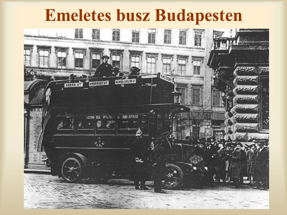Emeletes busz Budapesten