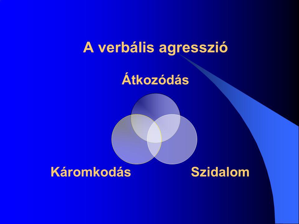 A verbális agresszió Átkozódás SzidalomKáromkodás