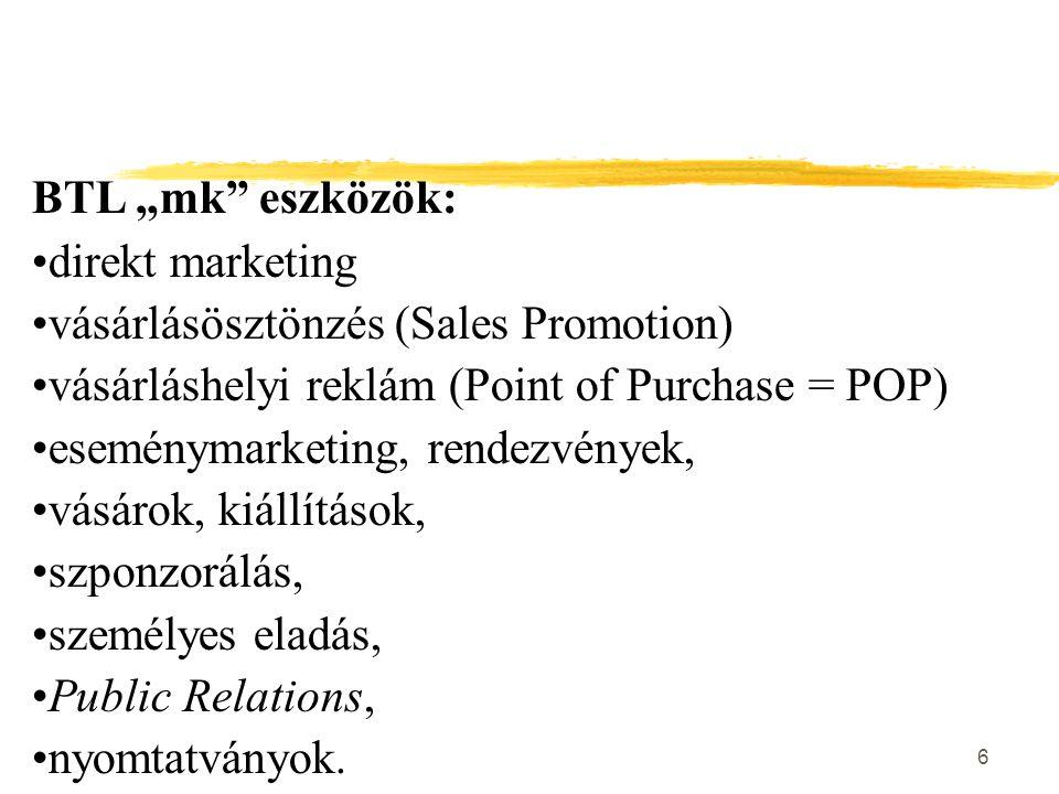 17 Reklám gazdasági szerepe A reklám hatással van: z a vásárlói döntésre  fogyasztó meggyőzése, hogy az adott terméket részesítse előnyben a konkurenciával szemben  kedvező döntés alapfeltétele a márkaépítés  a reklám megkülönbözteti a márkákat a piacon zÚj igények felkeltése a vásárlóban!