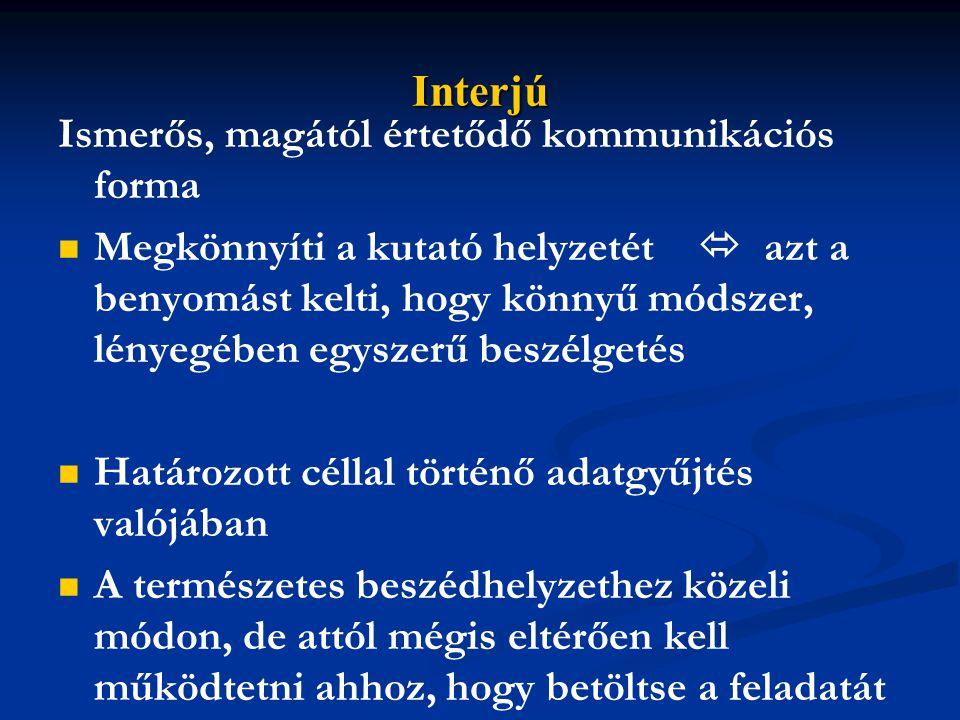 A résztvevők körének meghatározása, kapcsolatteremtés 3.