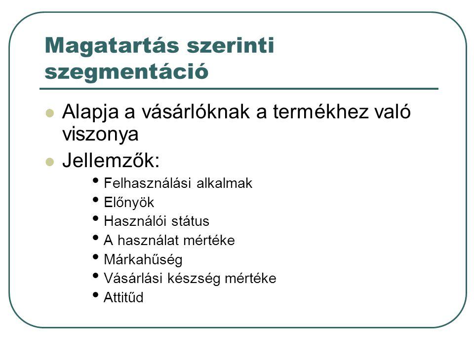 További szempontok A célpiacválasztás etikai kérdései (pl.