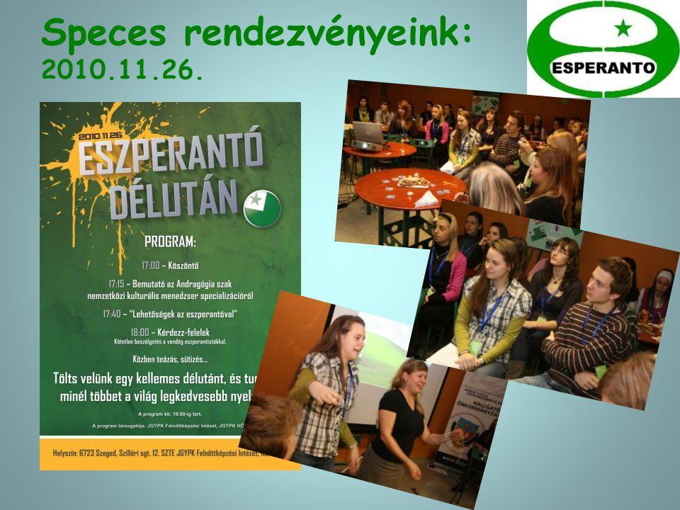 Tavaszi eszperantó program 2011.03.31.