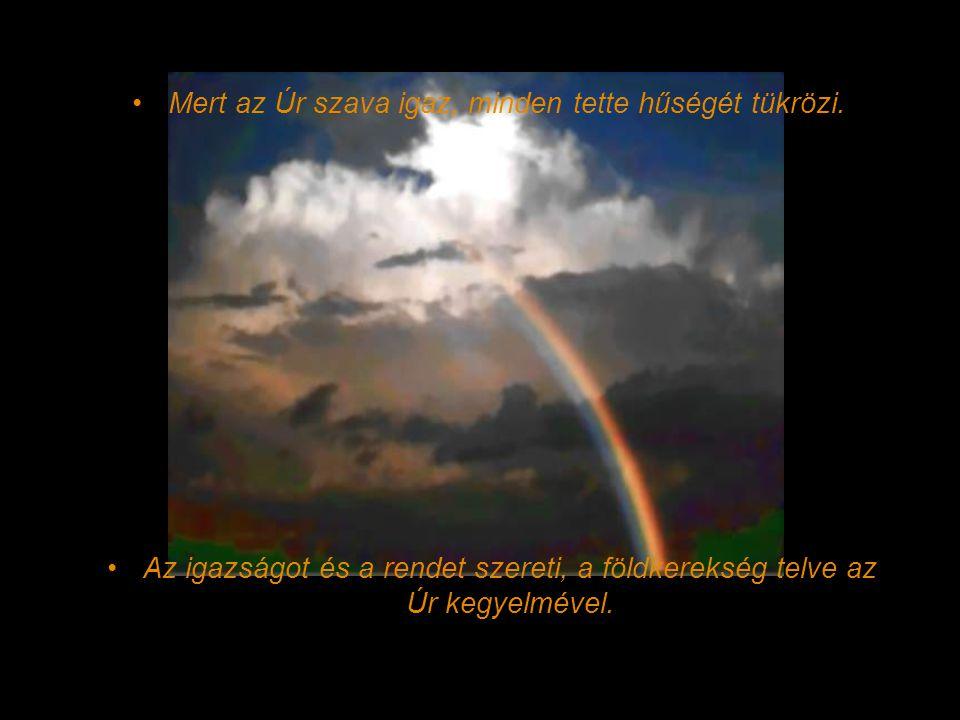 Dicsőítsétek az Urat citerával, tízhúrú hárfán zengjétek fölségét! Énekeljetek új dalt az Úrnak, daloljatok neki szép öröméneket zengve!