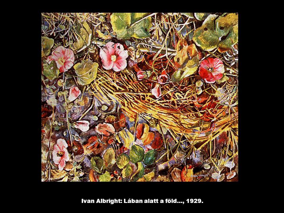 Ivan Albright: Lában alatt a föld…, 1929.