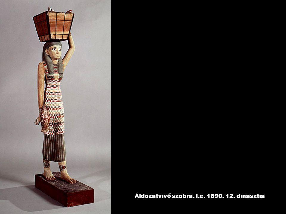 Áldozatvivő szobra. I.e. 1890. 12. dinasztia