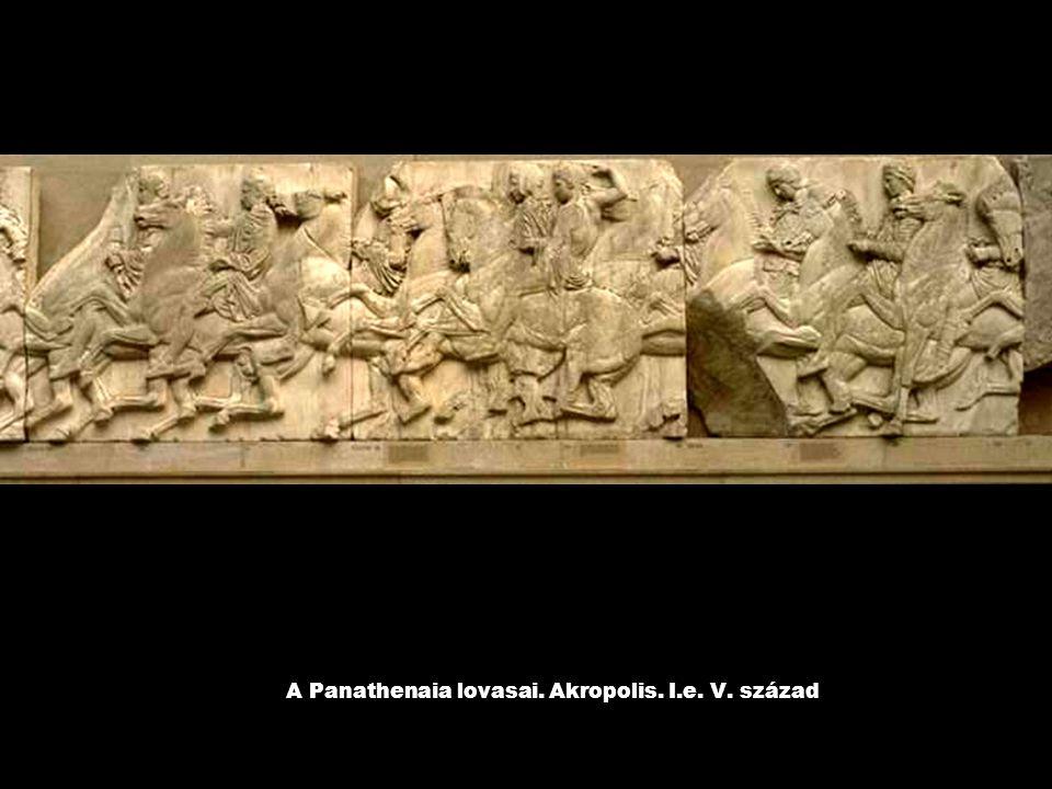A Panathenaia lovasai. Akropolis. I.e. V. század