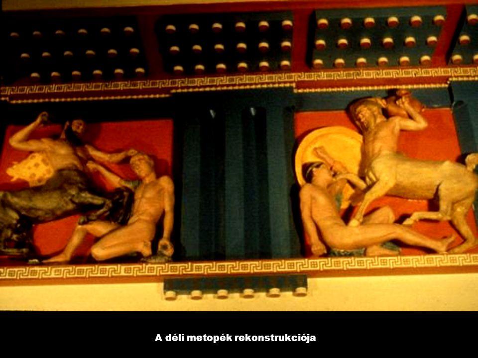 A déli metopék rekonstrukciója