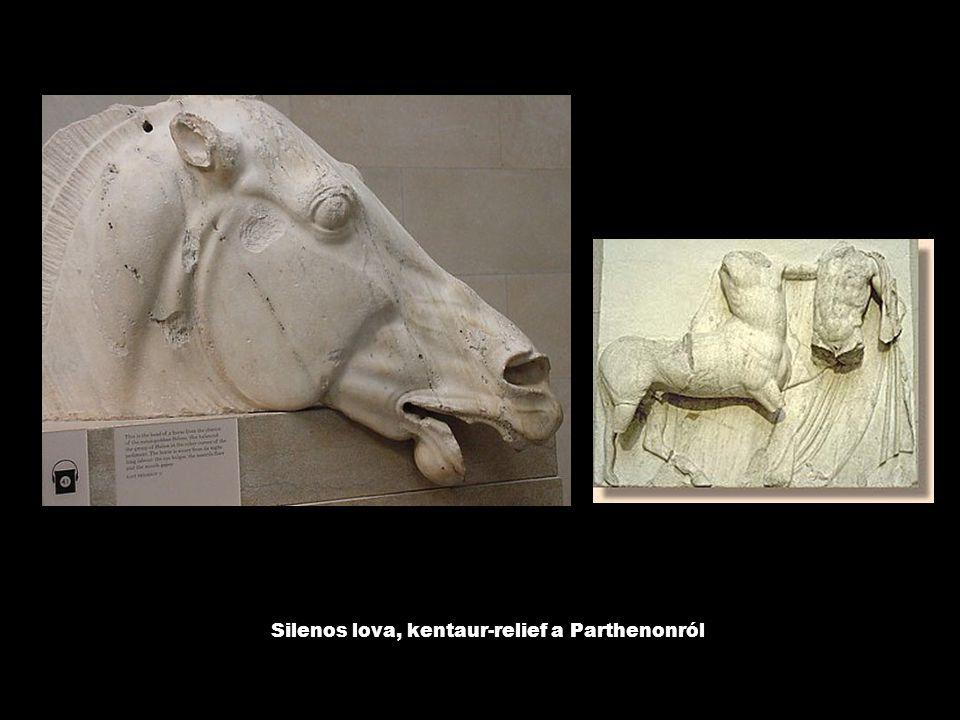 Silenos lova, kentaur-relief a Parthenonról