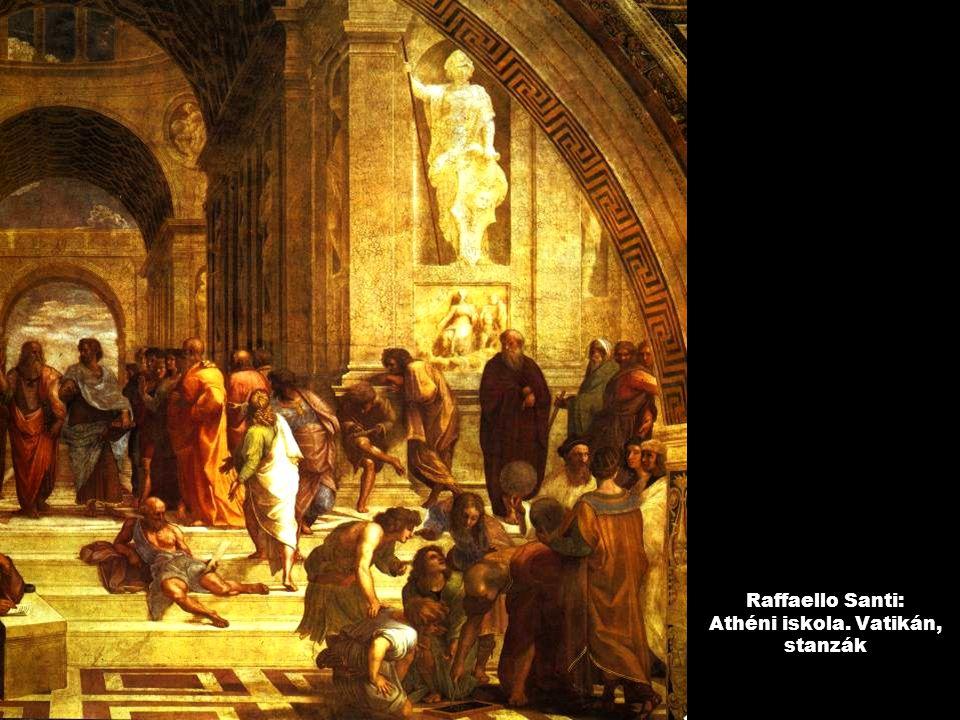 Raffaello Santi: Athéni iskola. Vatikán, stanzák