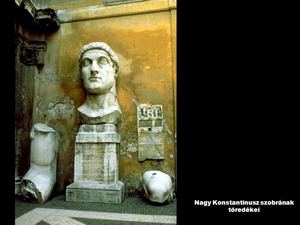 Nagy Konstantinusz szobrának töredékei