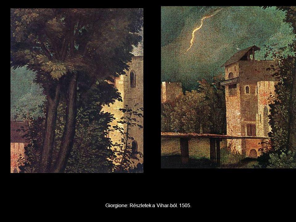 Giorgione: Részletek a Vihar-ból. 1505.