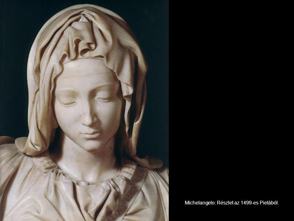 Michelangelo: Részlet az 1499-es Pietából.