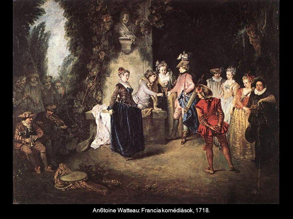 An6toine Watteau: Francia komédiások, 1718.