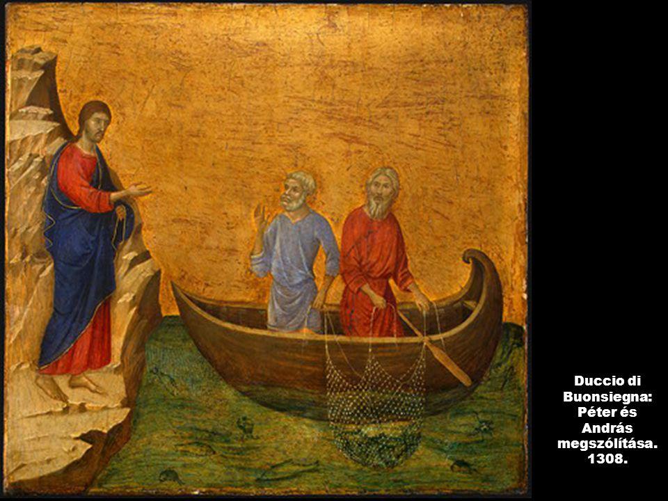 Duccio di Buonsiegna: Péter és András megszólítása. 1308.