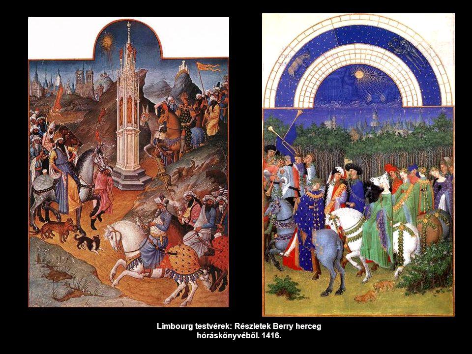 Limbourg testvérek: Részletek Berry herceg hóráskönyvéből. 1416.