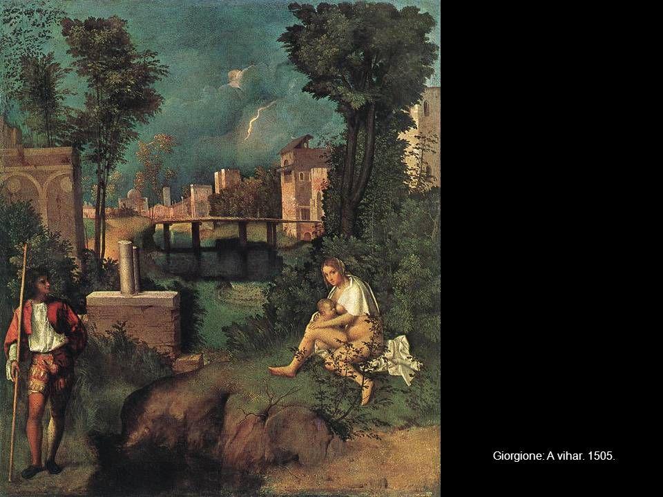 Giorgione: A vihar. 1505.