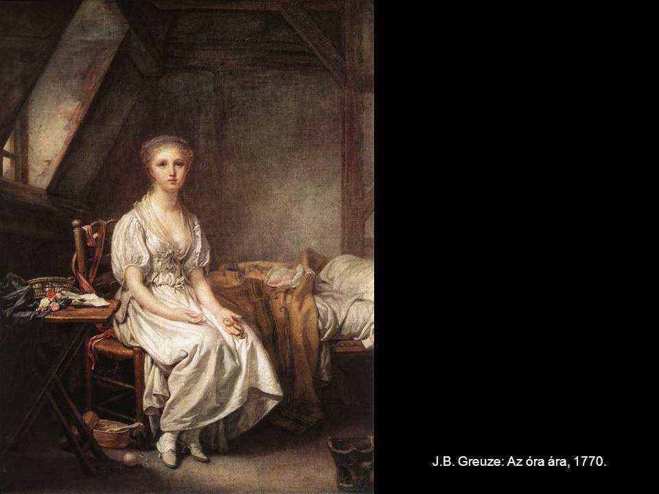 J.B. Greuze: Az óra ára, 1770.