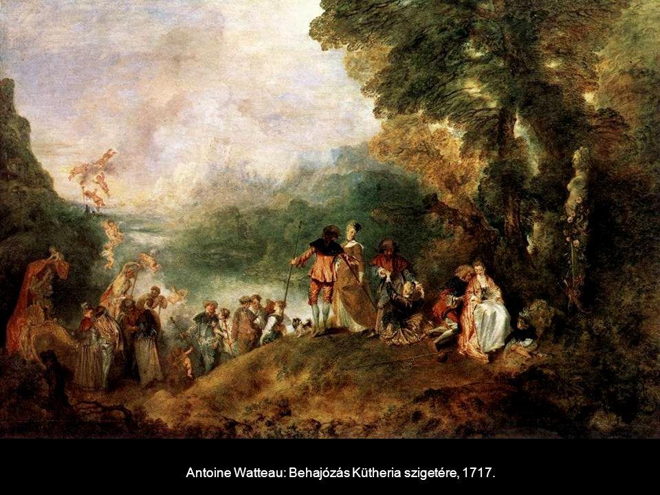 Antoine Watteau: Behajózás Kütheria szigetére, 1717.