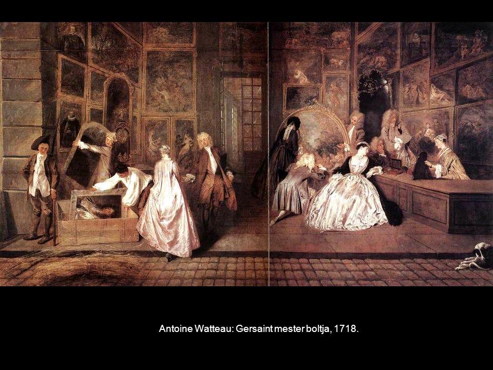 Antoine Watteau: Gersaint mester boltja, 1718.