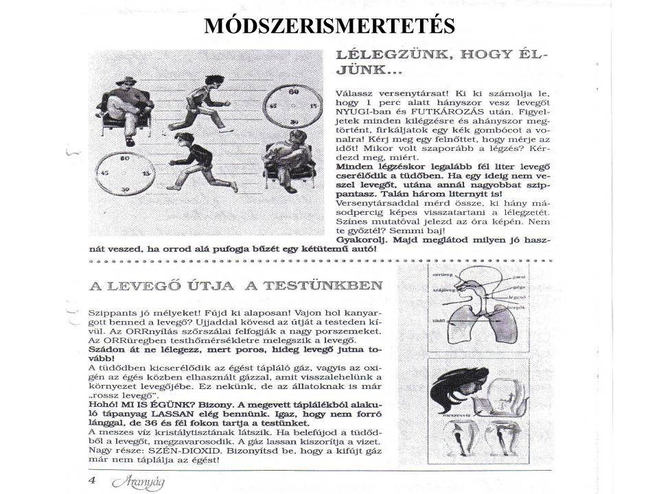 MÓDSZERISMERTETÉS