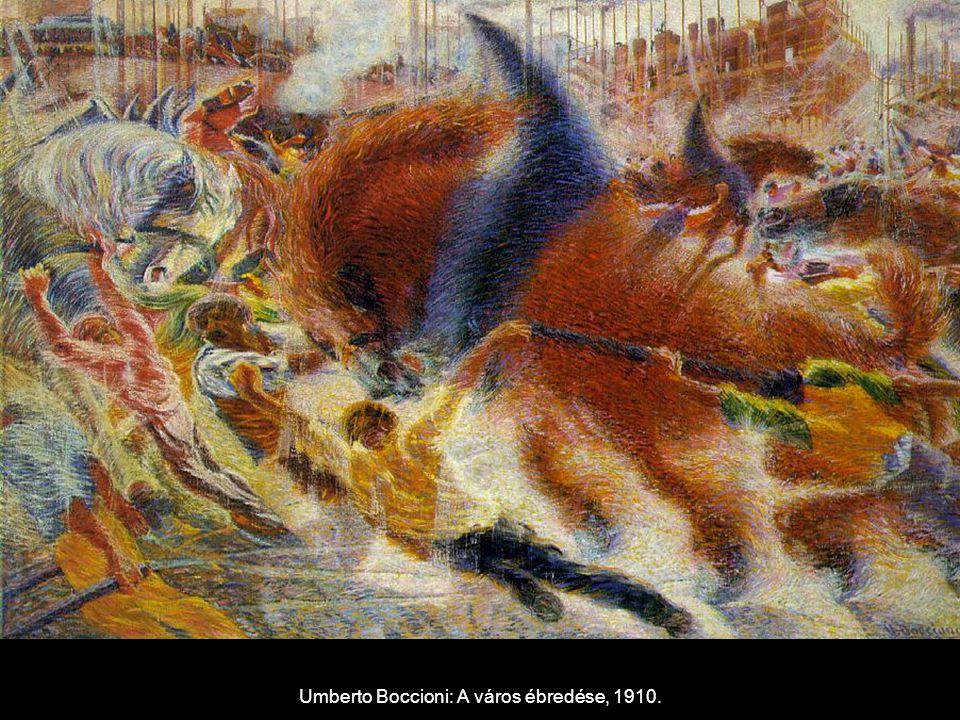 Umberto Boccioni: A város ébredése, 1910.