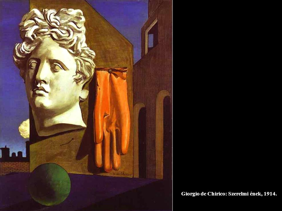 Giorgio de Chirico: Szerelmi ének, 1914.