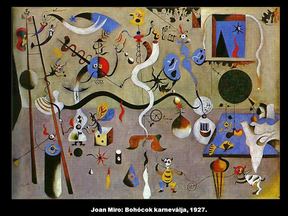 Joan Miro: Bohócok karneválja, 1927.