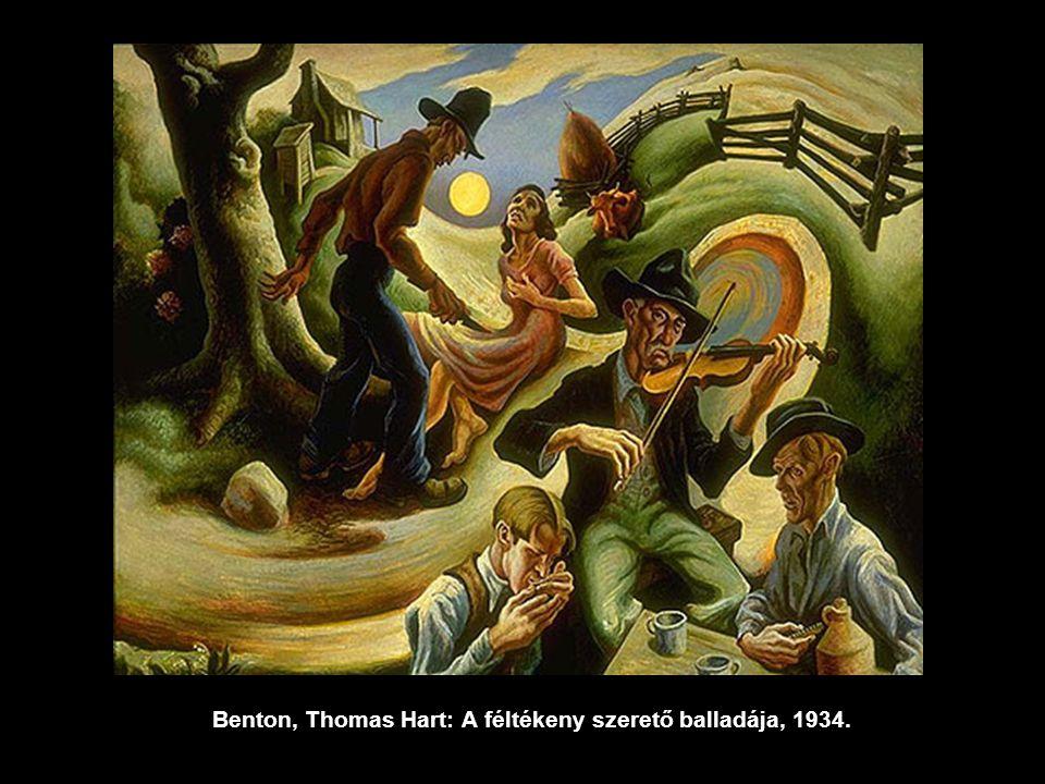 Benton, Thomas Hart: A féltékeny szerető balladája, 1934.