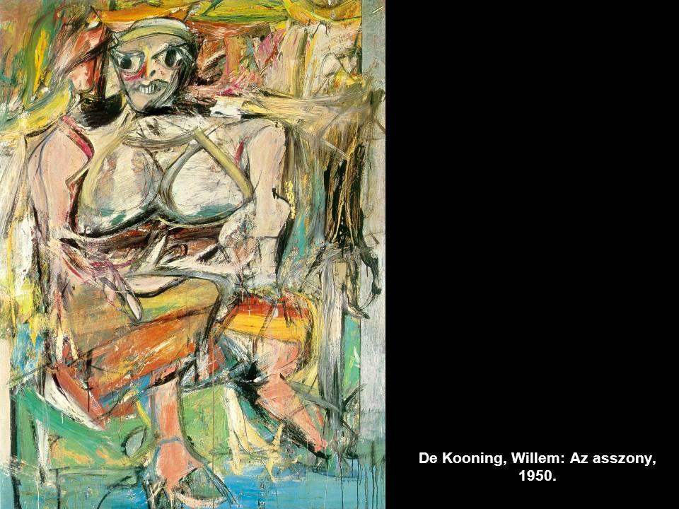 De Kooning, Willem: Az asszony, 1950.