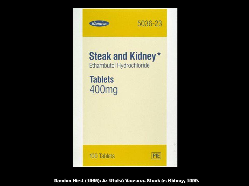 Damien Hirst (1965): Az Utolsó Vacsora. Steak és Kidney, 1999.