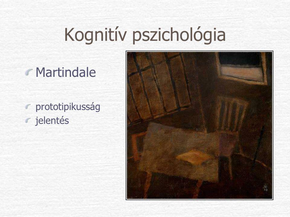 Kognitív pszichológia Martindale prototipikusság jelentés