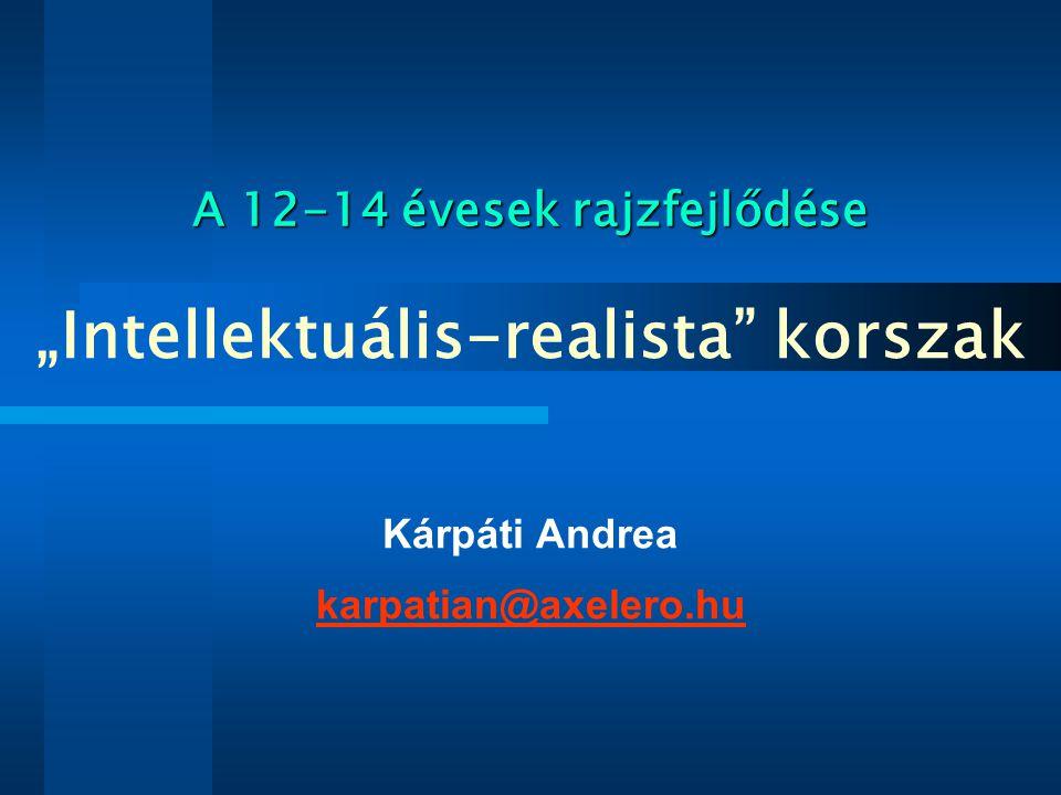 Gaul és Kárpáti, (1997): Megfelelő fejlesztés mellett a vizuális képességek a kamaszkorban sem hanyatlanak.