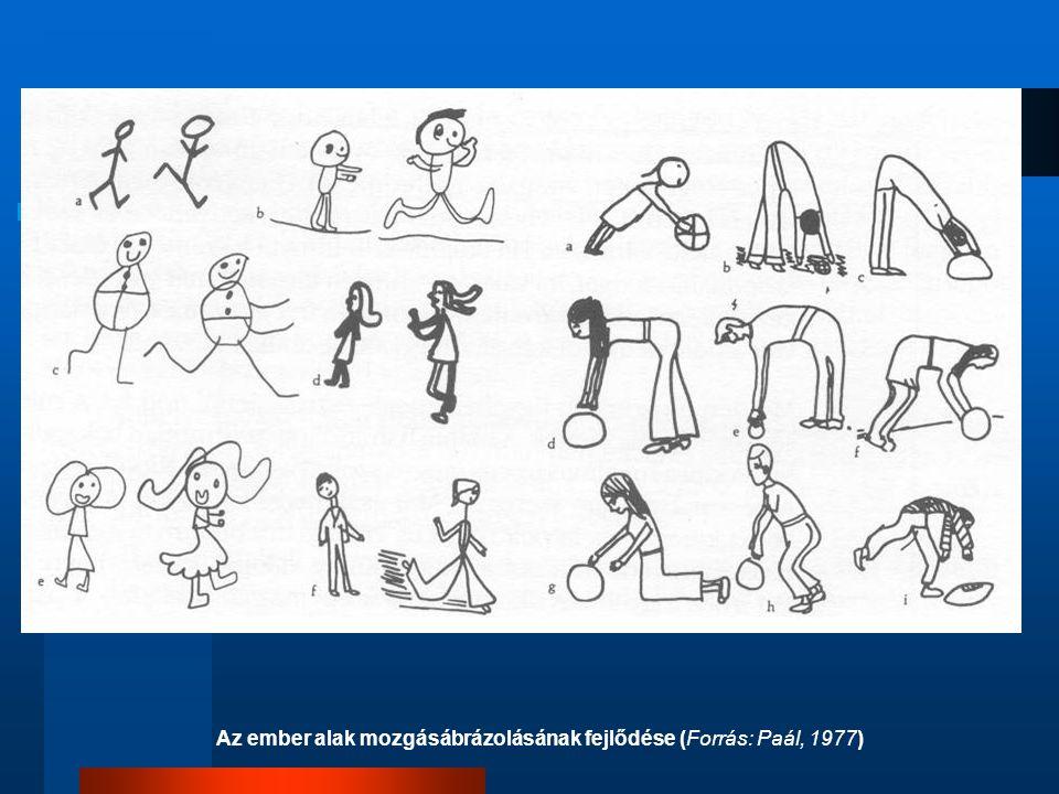 Az ember alak mozgásábrázolásának fejlődése (Forrás: Paál, 1977)
