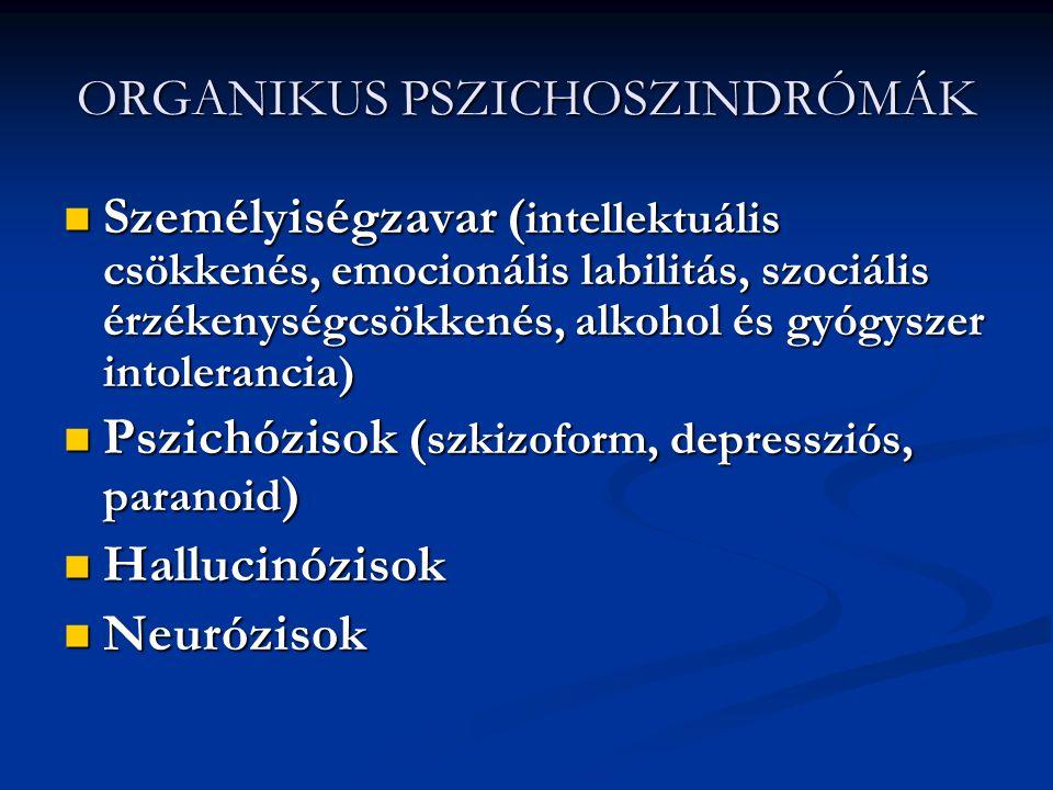 A DELÍRIUM OKAI ALKOHOL, GYÓGYSZERMÉRGEZÉS, --- MEGVONÁS ALKOHOL, GYÓGYSZERMÉRGEZÉS, --- MEGVONÁS ANYAGCSEREZAVAROK ANYAGCSEREZAVAROK KERINGÉSI ÉS SZÍVBETEGSÉGEK KERINGÉSI ÉS SZÍVBETEGSÉGEK KÖZPONTI IDEGRENDSZERI ( TRAUMA, EPILEPSZIÁS ROHAM, FERTŐZÉS, TUMOR, ÉRBETEGSÉG ) KÖZPONTI IDEGRENDSZERI ( TRAUMA, EPILEPSZIÁS ROHAM, FERTŐZÉS, TUMOR, ÉRBETEGSÉG ) ALVÁSMEGVONÁS ALVÁSMEGVONÁS