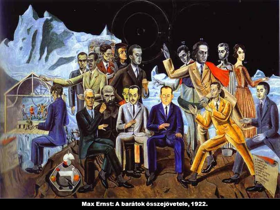 Max Ernst: A barátok összejövetele, 1922.