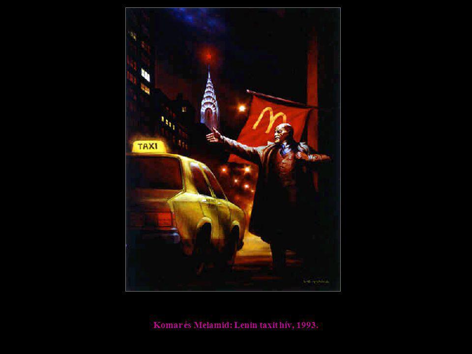 Komar és Melamid: Lenin taxit hív, 1993.