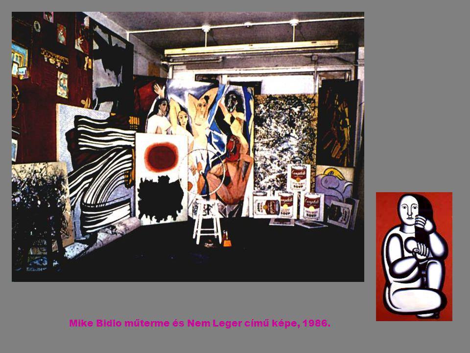 Mike Bidlo műterme és Nem Leger című képe, 1986.